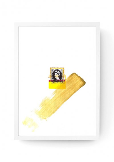 Mini Glitch Queen Stamp - Customised Digital Print A3
