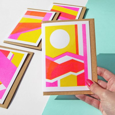 Risograph Card Pack - Geometric Patterned Card Set