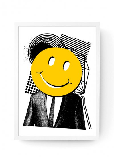 Mr Smiley - Screen Print A3