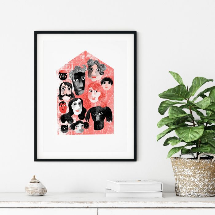 Home Is Family, Limited Edition Risograph Print