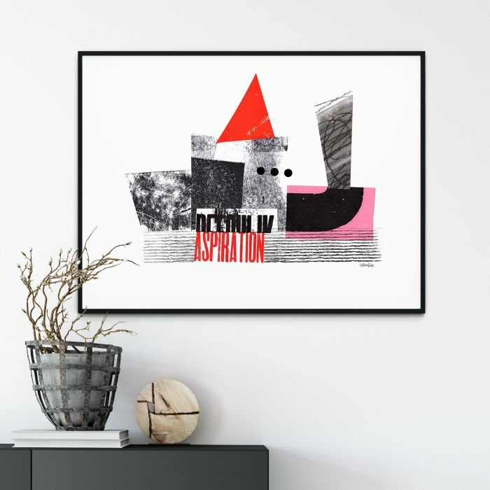 Aspiration / Abstract Collage / Limited Edition Giclee print