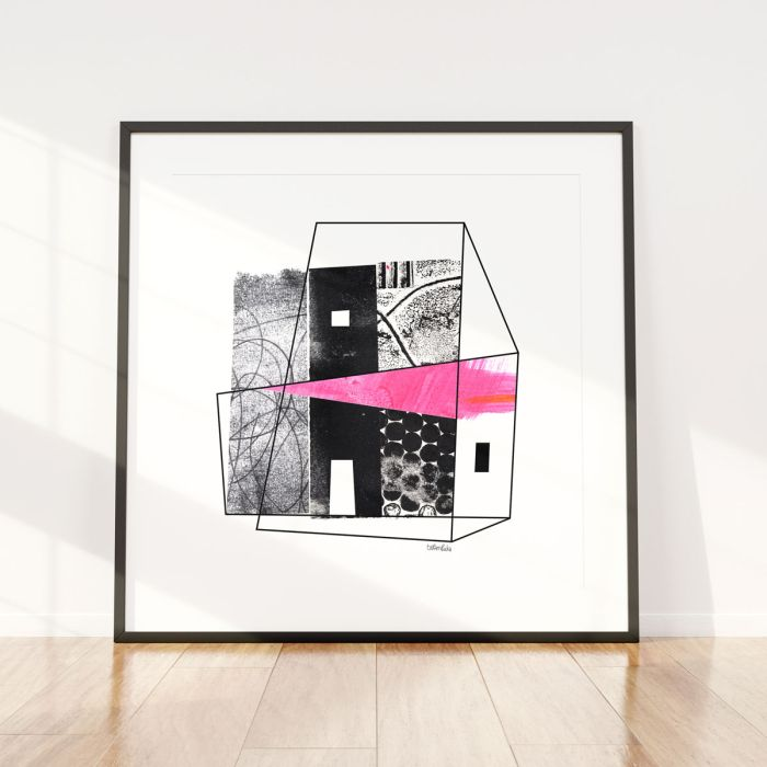 The Last Door / Abstract Collage / Limited Edition Giclee Print