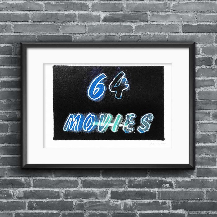64 movies screenprint (Blue edition)