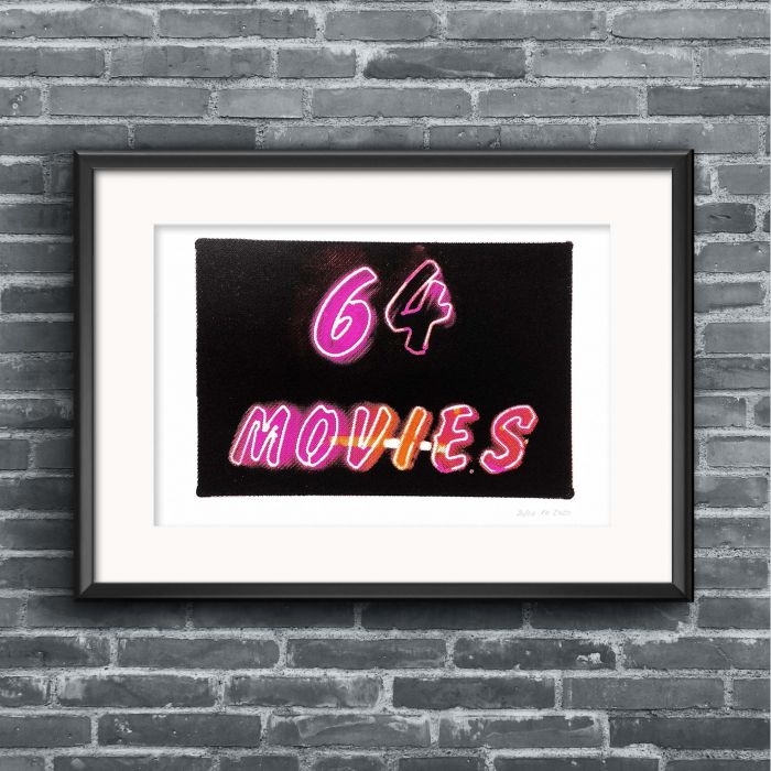 64 movies screenprint (Pink edition)
