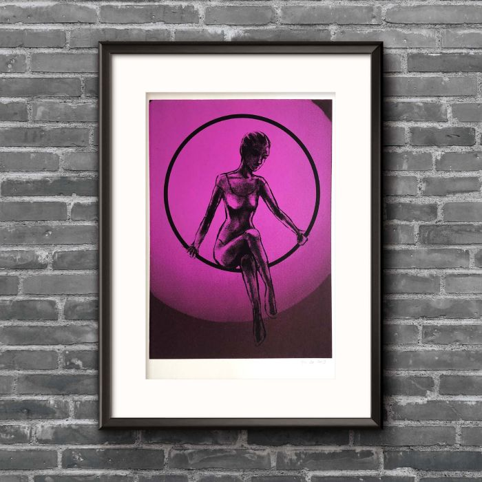 Acrobat screenprint (Hoop edition)