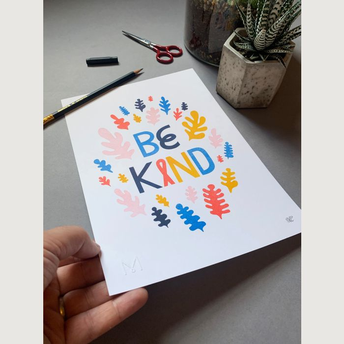 A4 Be Kind Risograph