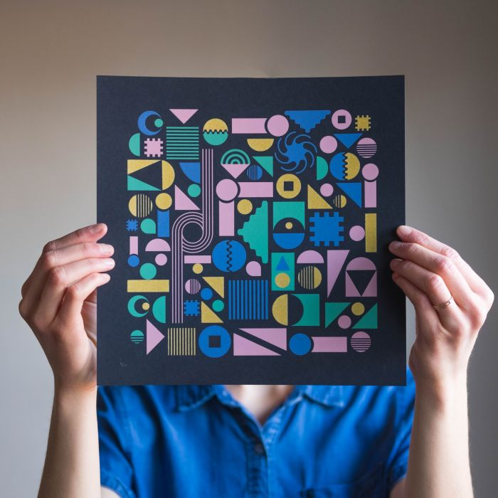 Geometric Jungle II – Black Variant