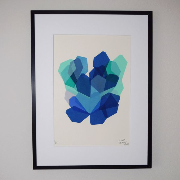 One-off | Original abstract hand-pulled screen print