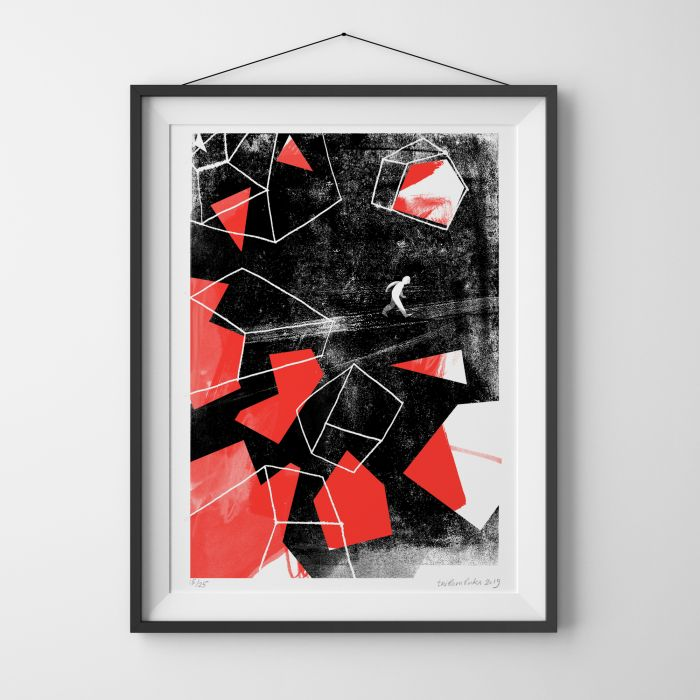Broken Homes, Limited Edition Risograph Print