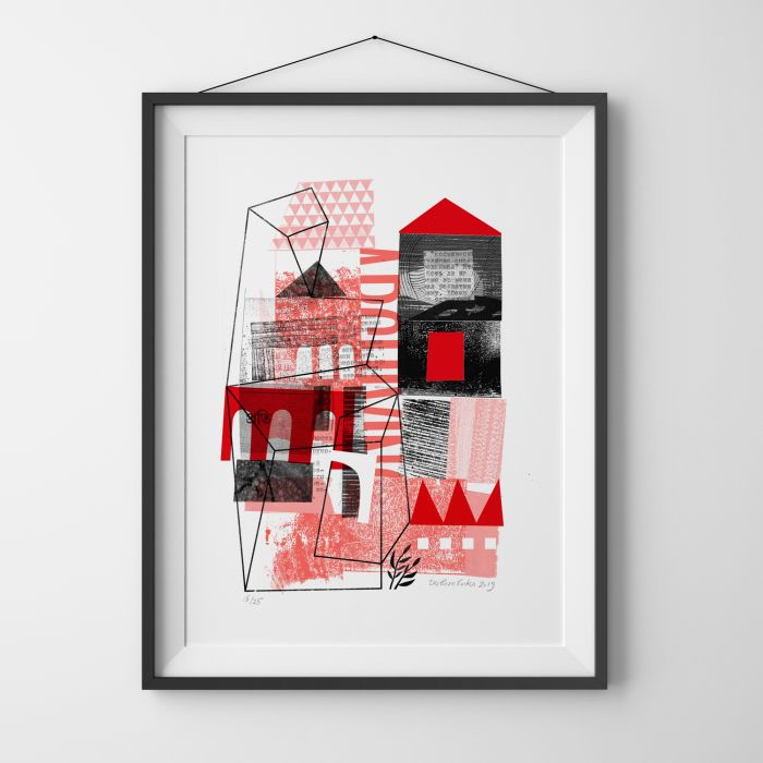 Building Home, Limited Edition Risograph Print