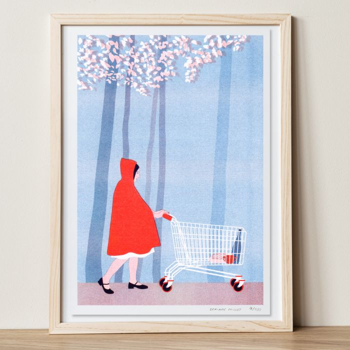 Limited edition risograph print - Little Red