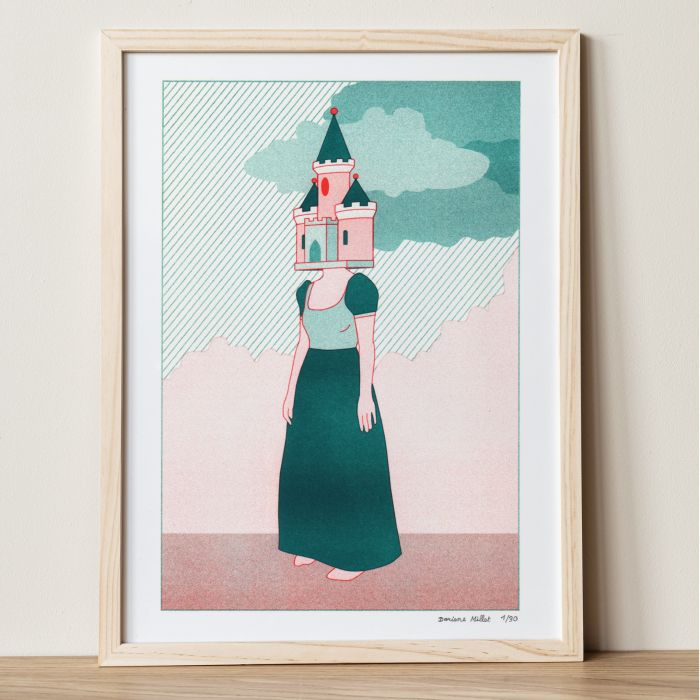 Limited edition risograph print - The dreamer