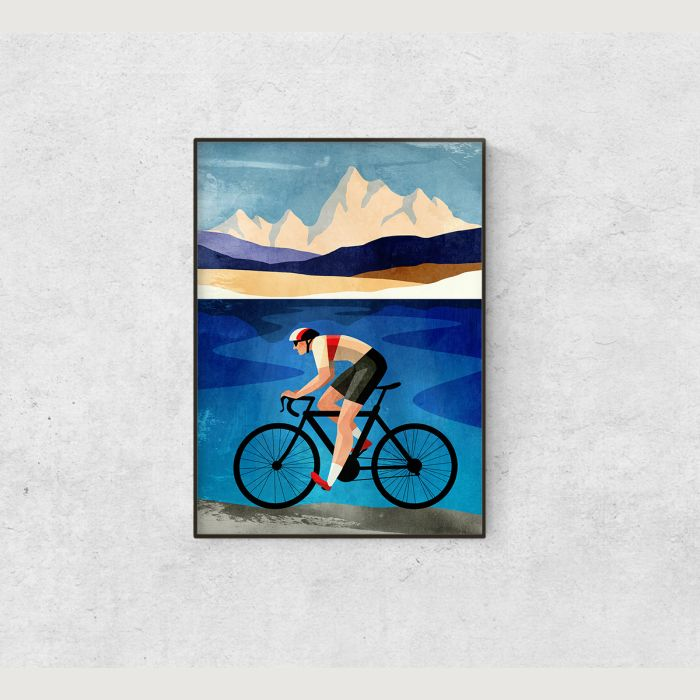 Cycling print. Great gift for cyclists.