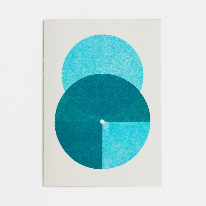 Number Eight – A6 Greetings Card – Risograph Print