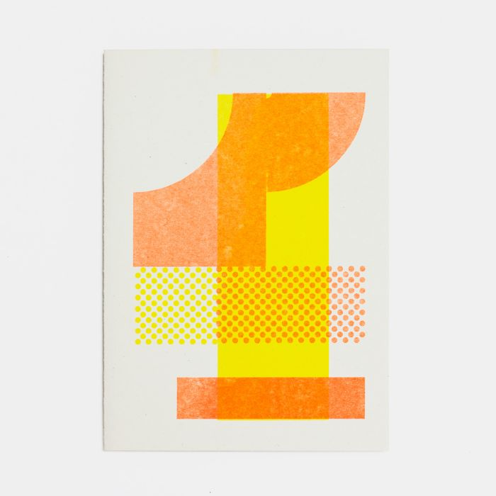 Number Four – A6 Greetings Card – Risograph Print