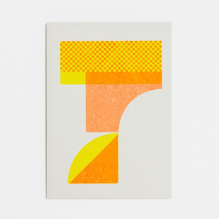 Number Seven – A6 Greetings Card – Risograph Print