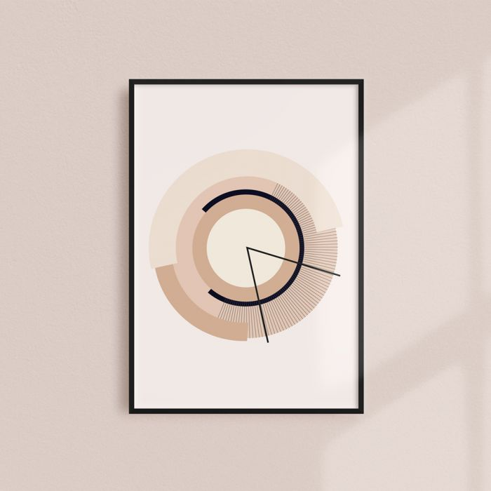 A minimalist graphic illustrationinspired by the passing of time.