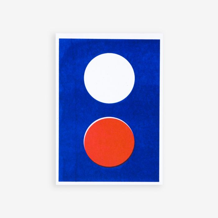 You can only make one dot at a time | Riso Postcard