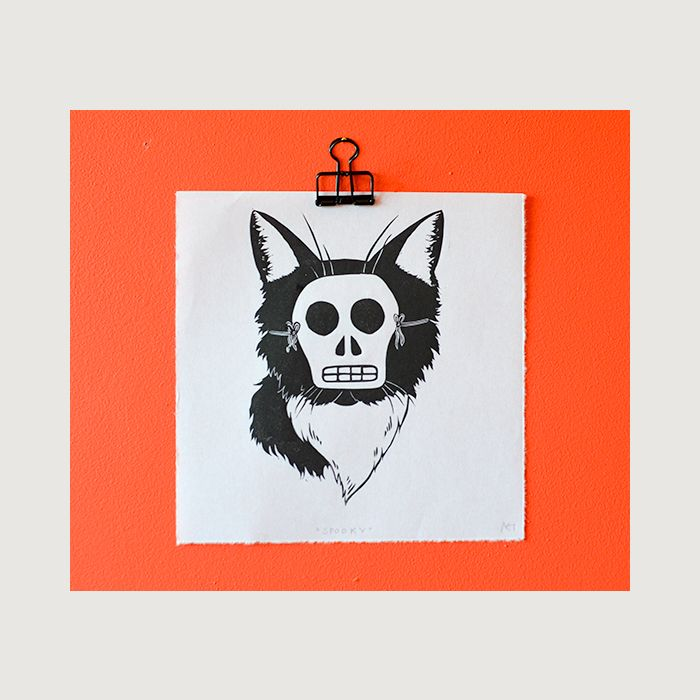 Spooky   Lincout Print