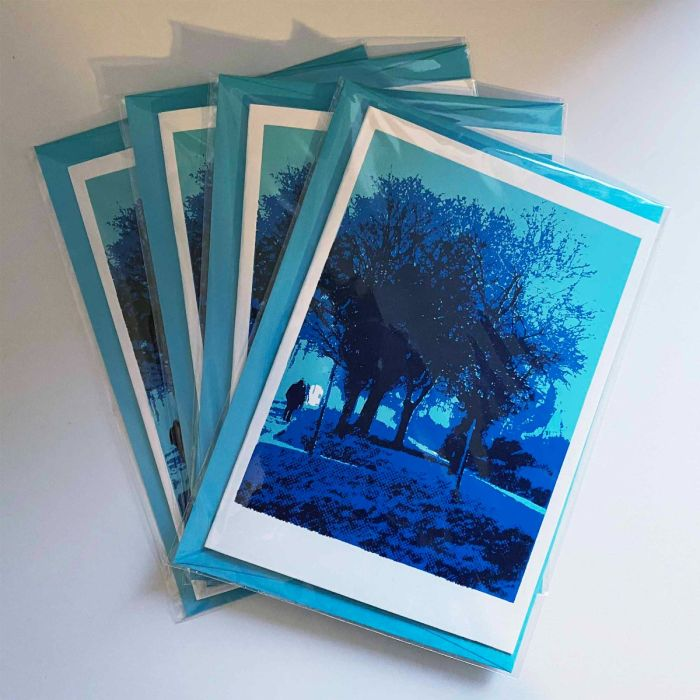 First Snow Greeting cards