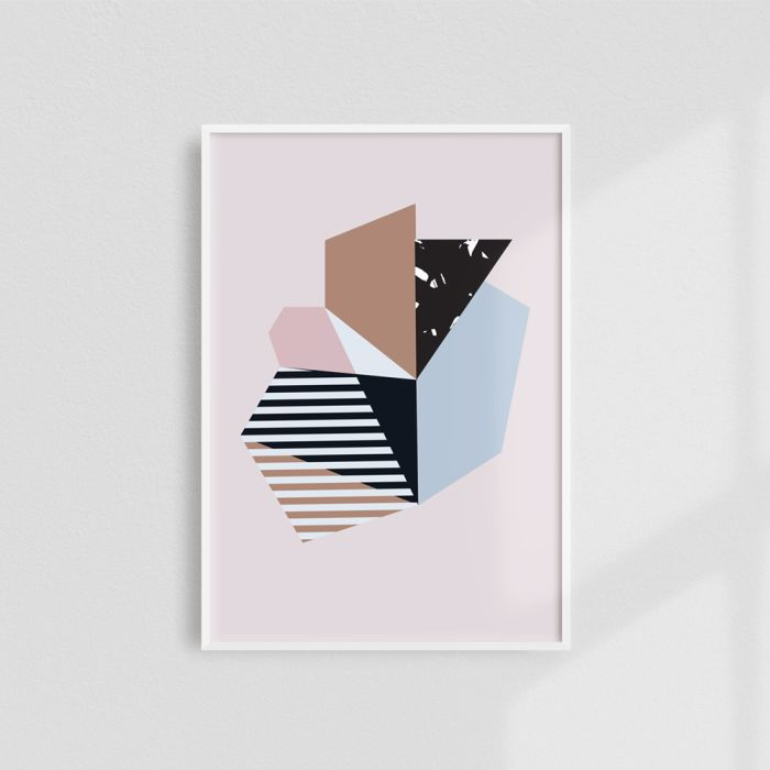 Modernist Abstract Pastel Shapes Art Print