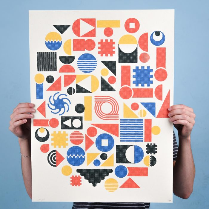 Geometric Jungle – Screenprint