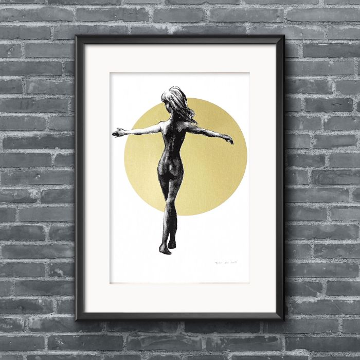 Dancing Alone (Gold Edition) screenprint