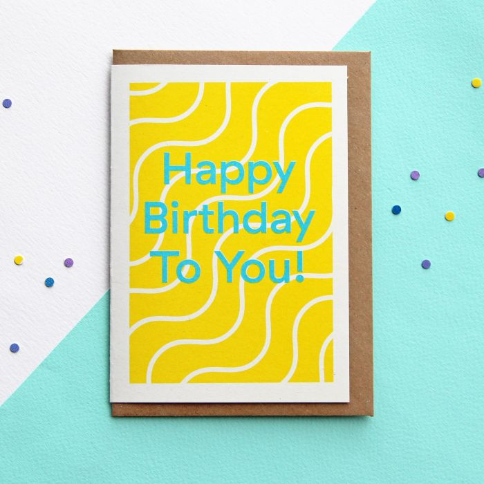 Happy Birthday To You Risograph Greeting Card