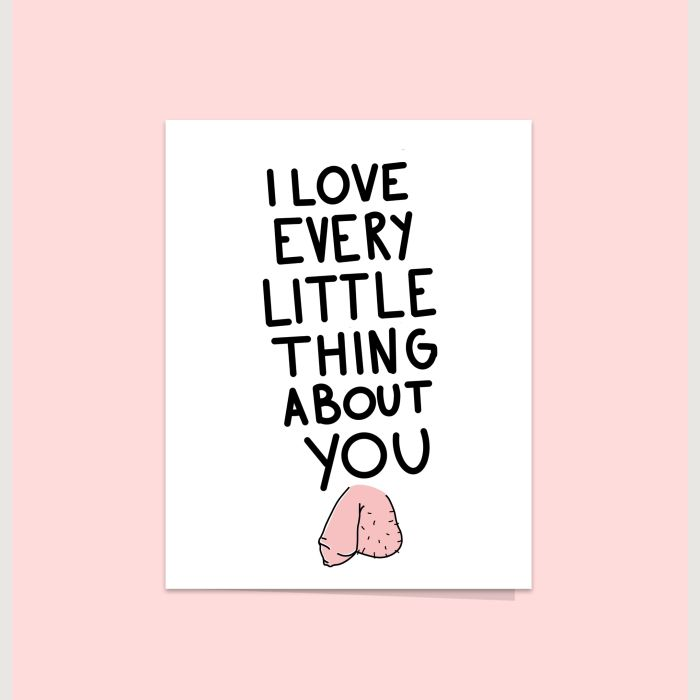 Valentine's card - I love your willy
