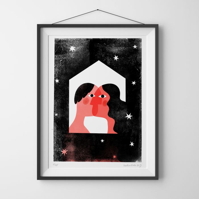 Love Is Finding Home In Another, Limited Edition Risograph Print
