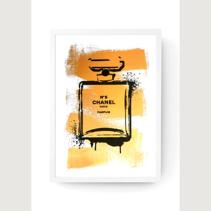 Chanel Gold-tone Paint - Customised Screen Print A3