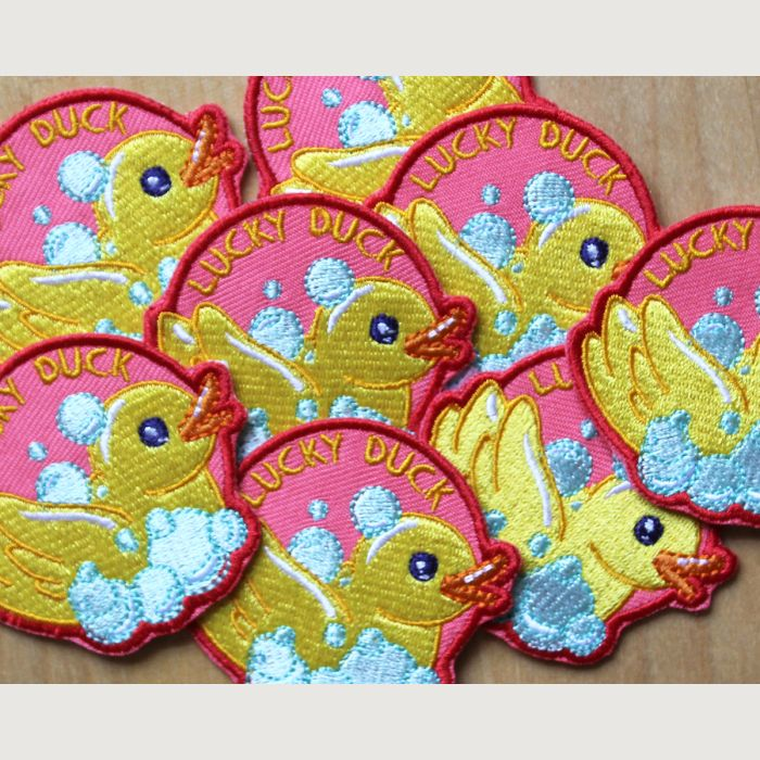 Lucky Duck Embroidered Patch