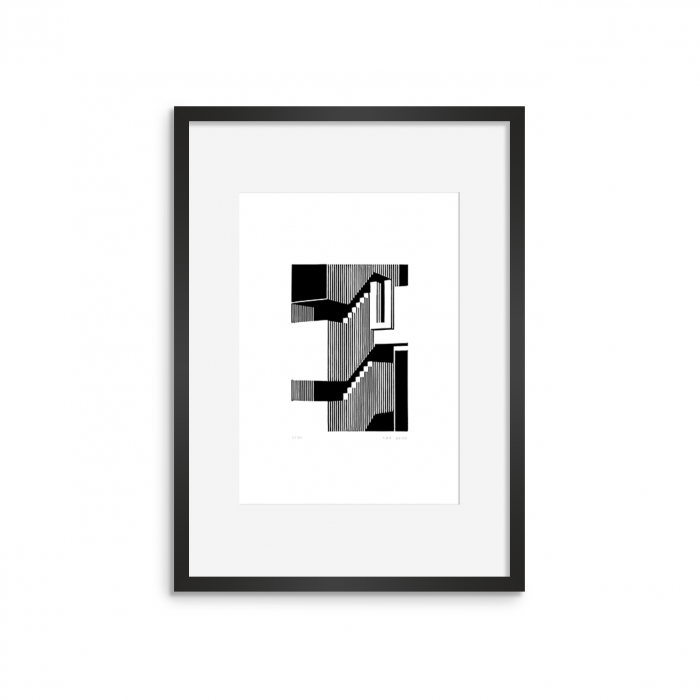 MURALHA 01 - limited edition relief print by fresca studio