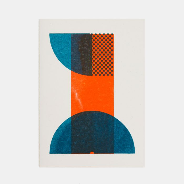 Number One – A6 Greetings Card – Risograph Print