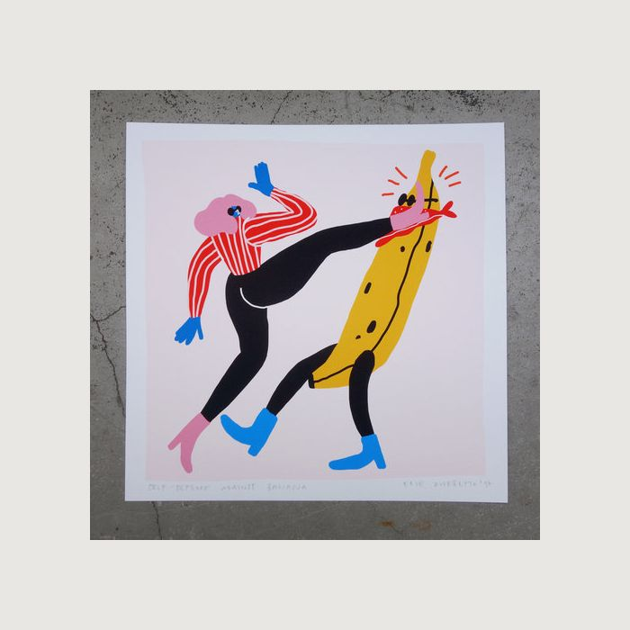 SELF-DEFENCE AGAINST BANANAS giclee print by EGLE ZVIRBLYTE