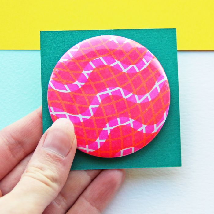 Squiggle Risograph Badge