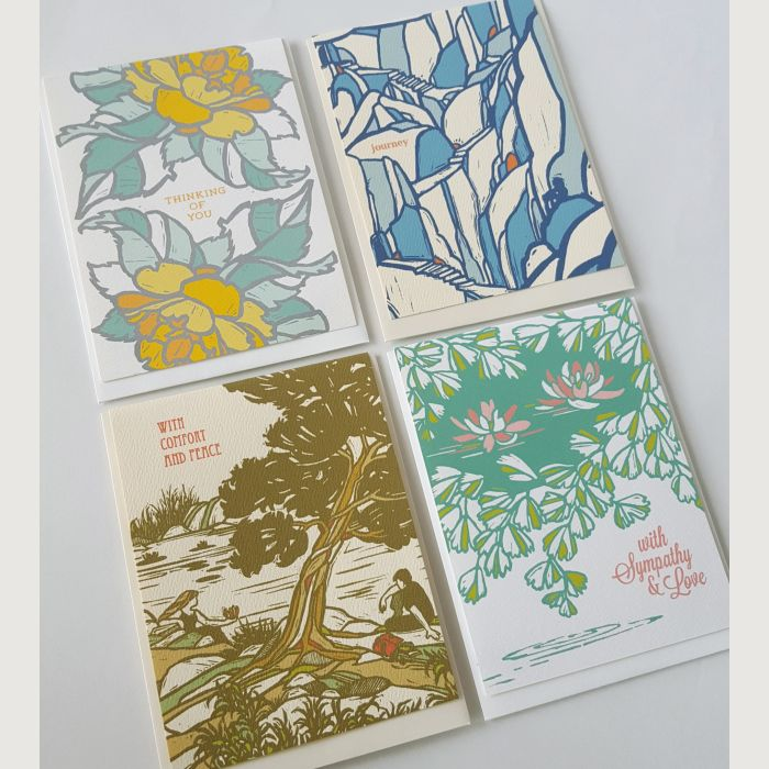 Assorted Sympathy Greeting Card Set of 4