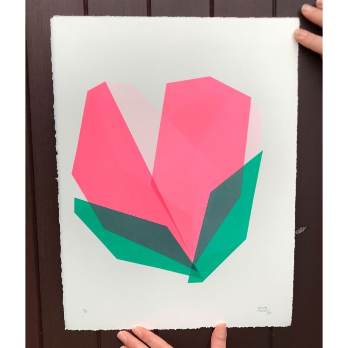 Screenprint | Tulip heart