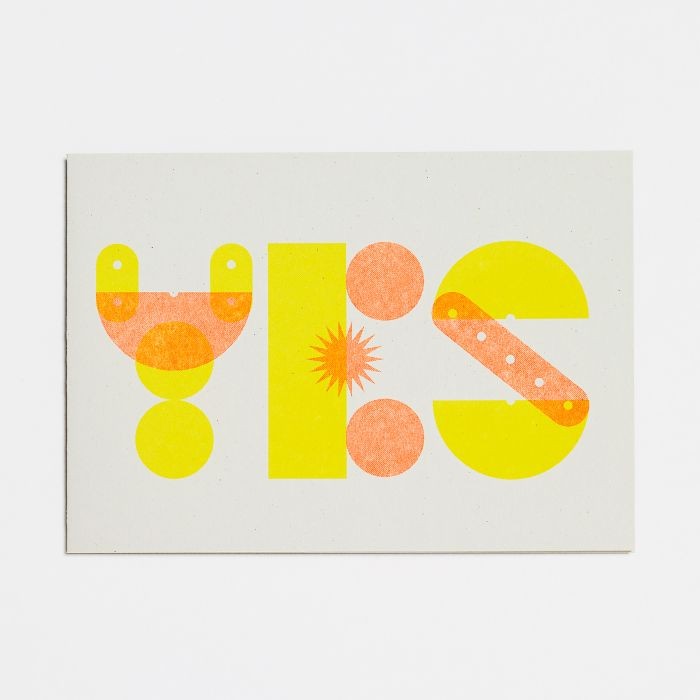 Yes! – A6 Greetings Card – Risograph Print